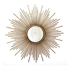 One of our most 'seen' items in Home Decor magazines or on TV is our Sunburst Antiqued Gold Wall Mirror by Two's Company® - Free Shipping!