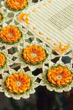 crochet, napkin tablecloth
