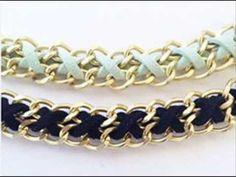 Tutorial como hacer una pulsera con cuero y cadena.-PULSERA Nº1-