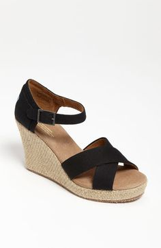 TOMS Canvas Sandal | Nordstrom - I saw a girl wearing these yesterday and they looked great, wonder if they are comfortable