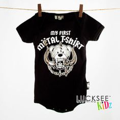 My First Metal Shirt Motorhead Onesie  100% Cotton                                                    Soft but durable Machine Washable under 40 Degrees Three Snap Closure Black           Great as a Baby Gift.