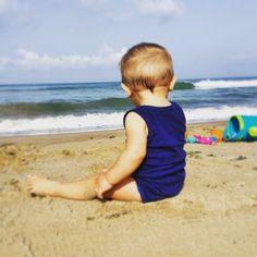 babyboy and sea