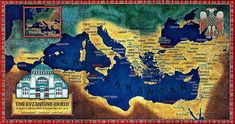 Roman Empire map Justinian I Roman Empire Map, Byzantine Architecture, Bayeux Tapestry, Byzantine Art, Byzantine Mosaics, Eastern Star, Historical Art, Dark Ages, Middle Ages