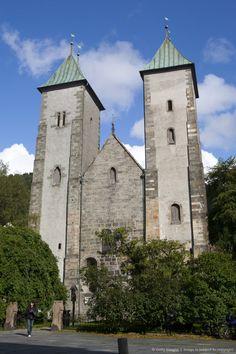 Mariakirken, Bergen, Hordaland, Norway, Scandinavia, Europe