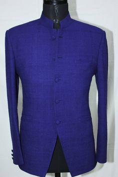 Navy Blue Fine Cut Jacket King Fashion, Men's Fashion, Fashion Design, Blazer Outfits Men, Designer Menswear, Ethenic Wear, Nehru Jackets, Psalm 23, Casual Suit
