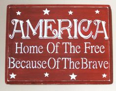 Primitive American America July 4th sign decoration by erinjt, $20.00