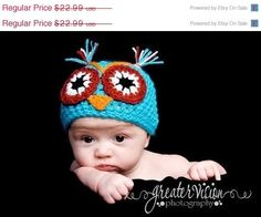 SALE  Halloween costume owl hatBaby owl hat newborn by NattyHatty, $21.99