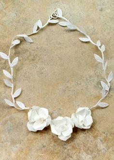 Oax-i-fornia Primavera Silk Cocoon Necklace