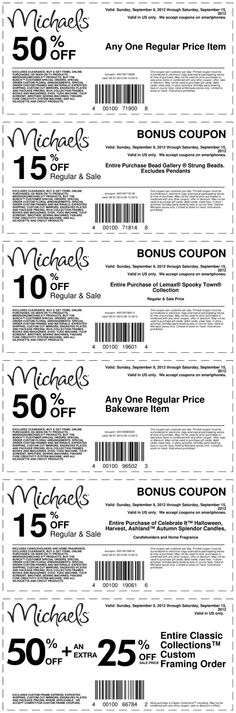 50% off a single item and more at Michaels coupon via The Coupons App