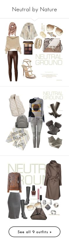 """""""Neutral by Nature"""" by michele-nyc ❤ liked on Polyvore featuring WithChic, Yves Saint Laurent, Jitrois, Valentino, Chloé, Loren Stewart, Kendra Scott, Bobbi Brown Cosmetics, Cartier and TravelSmith"""