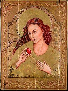 Marie Madeleine, Maori People, Images Of Mary, Religious Paintings, Mary Magdalene, Sacred Feminine, Holy Mary, John The Baptist, Religious Icons
