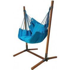 Hangstoel Turquoise met standaard