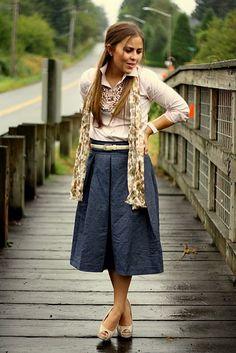 Knee length skirt love