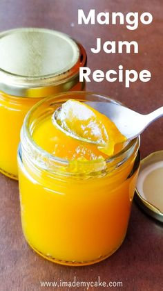 Make this easy and delicious 10 minute Small Batch Mango Jam with ONLY 1 MANGO and without using any Preservatives and Pectin! Jelly Recipes, Jam Recipes, Canning Recipes, Fruit Recipes, Juice Recipes, Easy Mango Recipes, Detox Recipes, Salad Recipes, Healthy Recipes