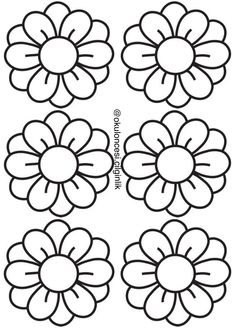 Applique Patterns, Craft Patterns, Flower Patterns, Spring Coloring Pages, Coloring Book Pages, Diy And Crafts, Paper Crafts, Wedding Cards Handmade, Crafts For Seniors