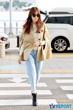 Korea Fashion, Asian Fashion, Airport Fashion, Han Hyo Joo Lee Jong Suk, Seo Ji Hye, Dong Yi, Airport Style, Duster Coat, Chic