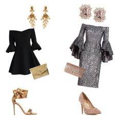 """""""Untitled #17"""" by jojohairstudio on Polyvore featuring Gianvito Rossi, Oscar de la Renta, Chicwish, Hayward, Milly, Head Over Heels by Dune and Jessica McClintock"""