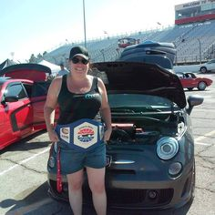 Was at the speedway today for Show and Shine going towards Speedway Children's Charity and was shocked to take Top 5 voted on by Fox 5! Happy Birthday to me! Yay another with for Nevada Fiat 500 Club!