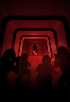 Darth Vader in Star Wars Rogue One Star Wars Film, Star Wars Fan Art, Star Wars Poster, Darth Vader Rogue One, Anakin Vader, Vader Star Wars, Darth Maul, Anakin Skywalker, Star Trek