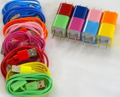 #Iphone 4, 4s, 3, 3s colorful chargers ... daily #deal $10 free shipping #shopping