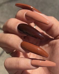 Long acrylic coffin nails Long acrylic coffin nails More from my site Charming Matte Nail Designs To Try This Fall; Perfect Nails, Gorgeous Nails, Dope Nails, Fun Nails, Glitter Nails, Matte Nails, Fall Acrylic Nails, Tumblr Acrylic Nails, Colored Acrylic Nails