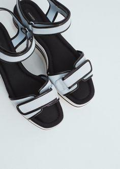 Sandales lanières plateforme | MANGO