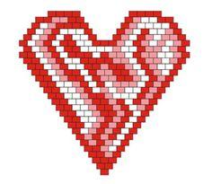 Сердечко-кулон | biser.info - всё о бисере и бисерном творчестве