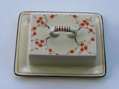 Art Deco Burleighware orange blossom cheese dish