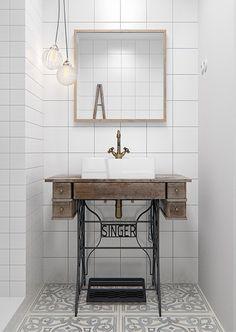 minimalistisch-witte-badkamer-met-industriele-vintage-elementen-2.jpg (433×610)