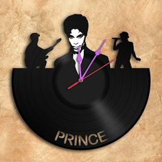 Wall Clock Prince Vinyl Record Clock home by geoartcrafts on Etsy