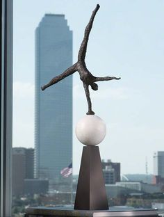 Modern Acrobat Sculpture - 8.80578 | Global Views home decor at Art Leaders Gallery. Browse fine art, paintings, sculptures, and hand-made glass online. artleaders.com | 248-539-0262