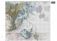 Gallery.ru / Фото #1 - цветы 6 - koreianka Cross Stitch Tree, Cross Stitch Flowers, Cross Stitch Patterns, Ribbon Embroidery, Needlework, Vintage World Maps, Projects To Try, Old Things, Pictures