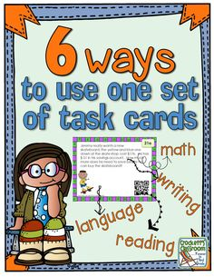 Get more out of your task cards, 6 ways to use one set of task cards---Crockett's Classroom Forever in Third Grade