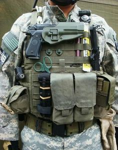 ideas about Plate Carrier Tactical Wear, Tactical Survival, Survival Gear, Survival Items, Tactical Equipment, Military Equipment, Special Forces Gear, Airsoft Helmet, Combat Gear