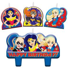 DC Super Hero Barrettes 12 Pieces Party Favors Look cute!