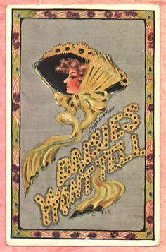 A S COBB SHINN 1910 BEAUTIFUL LADY Daisy Hat LARGE LETTER Vintage POSTCARD 25758787d4c4