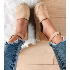 Kira εσπαντρίγιες δίπατες μπεζ Fashion Shoes, Espadrilles, Beige, Flats, My Style, Outfits, Clothes, Espadrilles Outfit, Loafers & Slip Ons