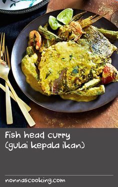 Fish head curry (gulai kepala ikan) | Fish head curry became a popular dish in Malaysia and Singapore around the second half of the 20th century. With South Indian origins, the various ethnic groups of the Malay Peninsula have added their own accents to the dish, and recipes vary from place to place, group to group, family to family and shop to shop. No two recipes are ever the same. My Aunty Chin makes a great fish head curry and this is an adaptation of her recipe; with powerful sweet and…