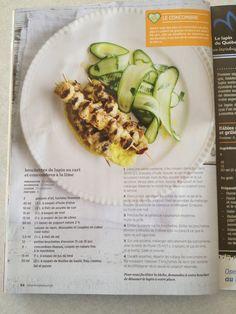 Brochettes de lapin au cari et concombres à la lime - excellent !!! Lime, Bread, Recipes, Food, Skewers, Cucumber, Rabbits, Lima, Meal
