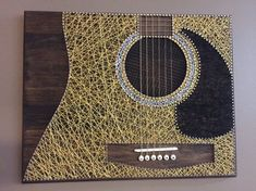 Guitar String Art #GuitarStrings