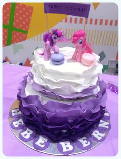 My Little Pony Ombre Cake Product Catalogue, Ombre Cake, My Little Pony, Desserts, Food, Tailgate Desserts, Meal, Dessert, Eten