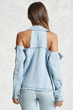Open-Shoulder Denim Jacket | Forever21