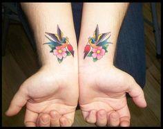wrist tattoo. Nicely done!