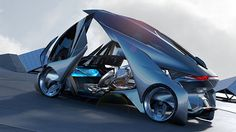 Chevrolet wowed the crowds of the Shanghai auto show this week when it dropped the silk sheet on a fully autonomous vehicle that's a futuristic blend of Tron Light Cycle and Blade Runner Spinner. The next six images will make you lust for it. Chevy, Van Chevrolet, Auto Design, Automotive Design, Automotive News, Shanghai, Transformers, E Motor, Bugatti