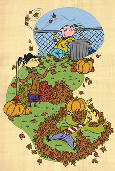 Ed, Edd n' Eddy - Ed, Edd/Double D & Eddy - Fanart (Autumn days by Jazzekat on DeviantArt)