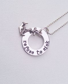 Refuse To Sink Hand Stamped Washer Necklace by GracefullyMine