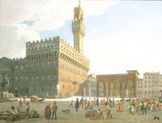 Old painting of Piazza della Signoria https://upload.wikimedia.org/wikipedia/commons/5/51/XIX_century_print,_Piazza_della_signoria,_firenze.jpg
