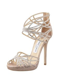 Diva Crystal Cutout Sandal by Jimmy Choo at Bergdorf Goodman.