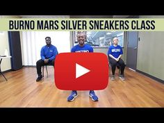New Bruno Mars Silver Sneakers Class!! - YouTube Yoga For Seniors, Aerobics Classes, Workout Videos, Exercise Videos, Exercise Routines, Chair Exercises, Chair Yoga, Plus Size Workout, Senior Fitness