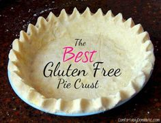 The Best Gluten Free Pie Crust Recipe | ComfortablyDomestic.com This crust tastes like the real deal! SO buttery and flaky.